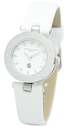 [Michel Jordan] michel Jurdain watch sports natural diamond containing zero one round face leather white MJ-1500-2 Ladies by michel Jurdain (Michel Jordan)