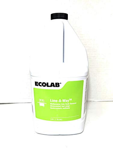 ECOLAB Lime-A-Way MULTIPURPOSE Lime Scale REMOVER Cleaner & LimeAway Delimer, Commercial Strength Lime-Away It ABSOLUTELY Obliterates the Nastiest of Nasty - Deliming Dish Machines & Coffee Urns ()