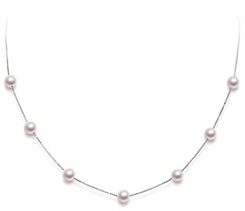 HXZZ Fine Jewelry Women Gifts for Women 925 Sterling Silver Pearl Chain Necklace 18 inches