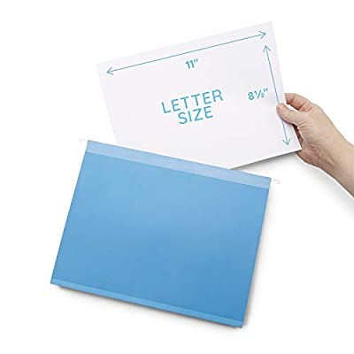 Blue Summit Supplies Extra Capacity Hanging File Folders, 25 Reinforced Hang Folders, Heavy Duty 2'' Expansion, Designed for Bulky Files, Medical Charts, Assorted Colors, Letter Size, 25 Pack