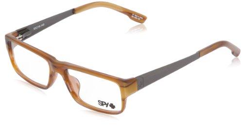 Spy Bixby Rectangular Eyeglasses,Brown Horn,53 - Com Spy Sunglasses
