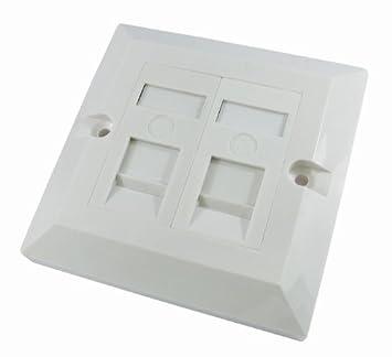 rhinocables® ethernet faceplate single \u0026 double socket rj45 network