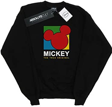 Disney Herren Mickey Mouse True 90s Sweatshirt Schwarz Large