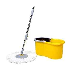 Esquire EE1YW EE1 Microfiber Elegant 360° Spin Bucket Mop Set (Yellow)