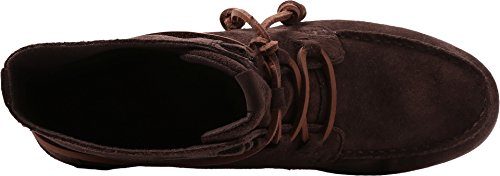 Sperry Womens Coil Hook In Pelle Scamosciata Marrone Scuro