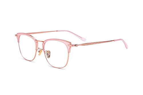 HEPIDEM Acetate Women Vintage Myopia Optical Glasses Frame Eyeglasses Spectacles 8002 (Pink - Myopia Buy Glasses Online