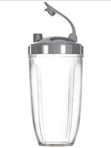 Preferred Parts Tall Replacement Cups for NutriBullet High-Speed Blender/Mixer | 24 oz Nutribullet Cup with Flip Top To-Go Lid (Pack of 2) - smallkitchenideas.us