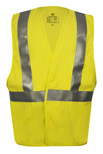 National Safety Apparel V20TV2VXL Contractor Class 2 FR Hi-Vis Safety Vest, X-Large, Fluorescent Yellow by National Safety Apparel Inc (Image #2)