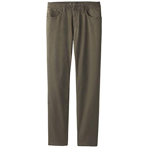 prAna Men's Standard Bridger Jean, Slate Green, 32W 32L