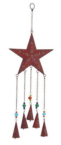 - Deco 79 26827 Metal Star Wind Chime, 8