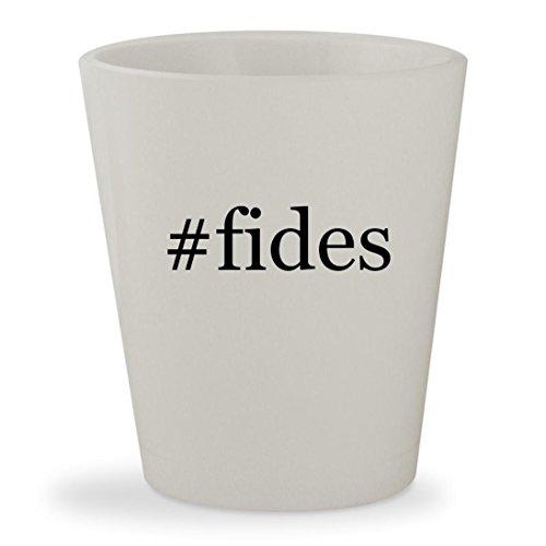 #fides - White Hashtag Ceramic 1.5oz Shot Glass (Morgan Clock Glass)