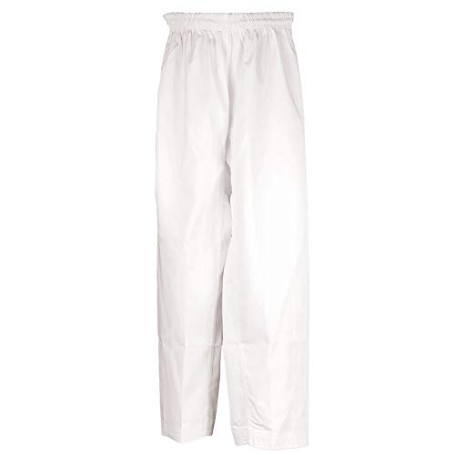 Tiger Claw Martial Arts Pants Poly/Cotton (White, 00)