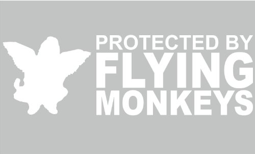 Graphix Protected by Flying Monkeys - Car, Truck, Notebook, Vinyl Decal Sticker (6