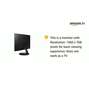 Samsung S19F350HNW 18.5-inch AH IPS LED Monitor (Black) (Not A TV)