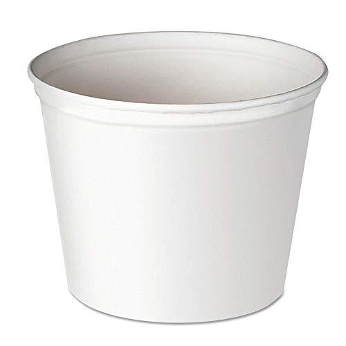 - Dart 10T1-N0198 Double Wrapped Paper Bucket, Unwaxed, White, 165oz, 100/carton
