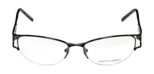 judith-leiber-1628-womens-ladies-cat-eye-half-rim-titanium-eyeglasses-eye-glasses-52-16-135-gunmetal
