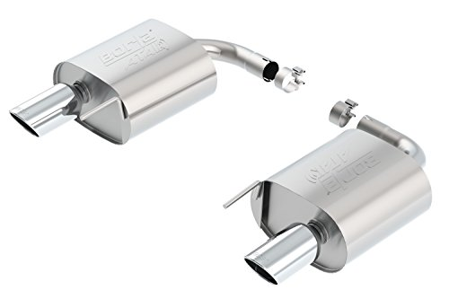 Borla 11939 ATAK Cat-Back Exhaust System 2.25 in. Incl. Muffler Assemblies/4x9 in. Single Round Rolled Angle-Cut Tip Single Split Rear Exit ATAK Cat-Back Exhaust System (Rear Tip Split)
