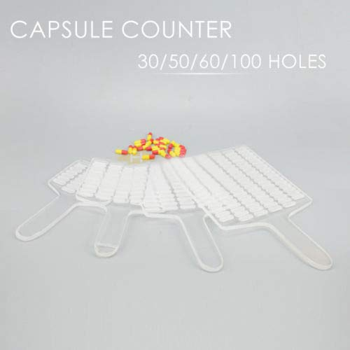 New Manual Capsule Counter Counting Board Capsule Filler Size 30/50/60/100 Holes