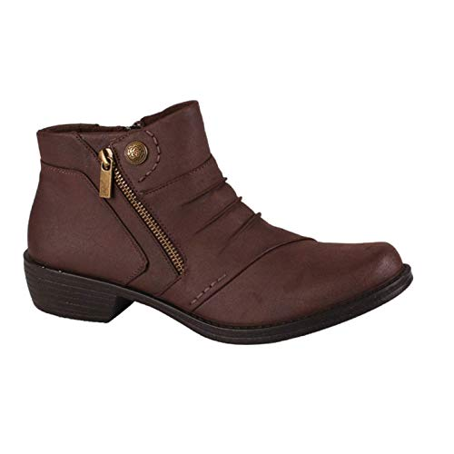 Easy Street Women's Sable Ankle Boot, Brown, 7.5 M US
