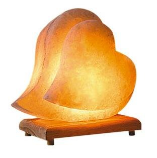 Himalayan Salt Lamp Ionic Air Purifier Hand Carved Romantic Heart Shaped Rock Crystal on Neem Wood Base. Enjoy this Eco Friendly Work of Art!