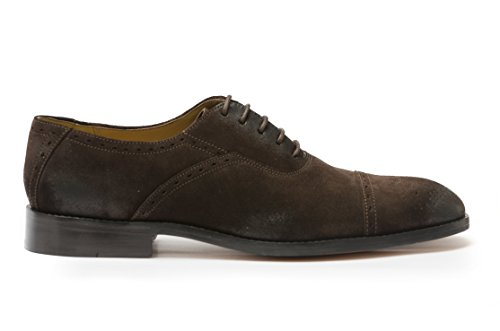 Cobble & Hyde Heren Piccadilly Cap Teen Oxford Schoen Bruin