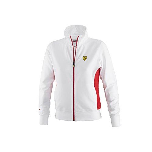Ferrari Women's Zip Sweatshirt (White, - Women Ferrari