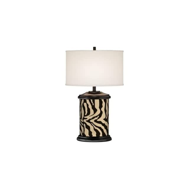 Safari Zebra Brown Giclee Art Base Table Lamp