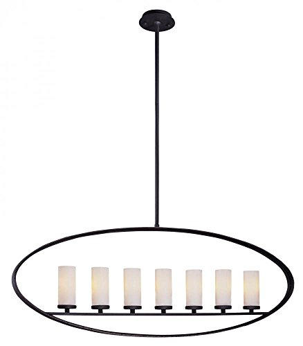 Troy Lighting Eclipse 7-Light Pendant - Federal Bronze Finish with Opal Glass - Federal Bronze Finish