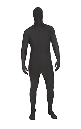 Black Msuit Fancy Dress Costume - size Large - 5'4-5'10 (All Black Costumes Halloween)