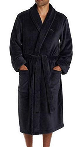 Mens Black Robe (Tommy Bahama Men's Soft Plush Robe (Small/Medium,)