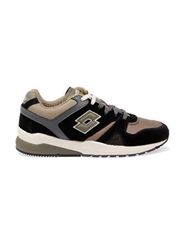 Uomo Sneakers Pelle Lotto 7385blkolive verde Nero UHzqxwq