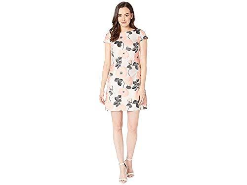 - Vince Camuto Women's Daytime Jacquard Cap Sleeve Shift Dress Black/White/Blush 10