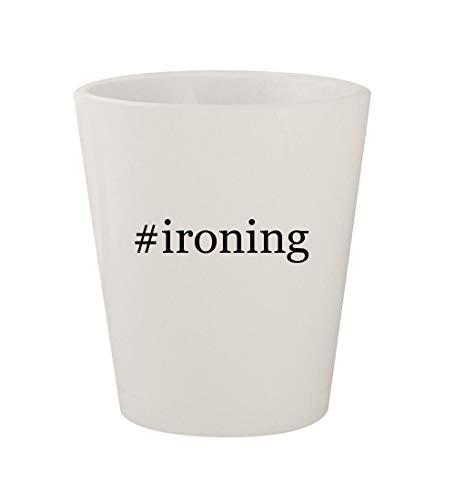 #ironing - Ceramic White Hashtag 1.5oz Shot Glass