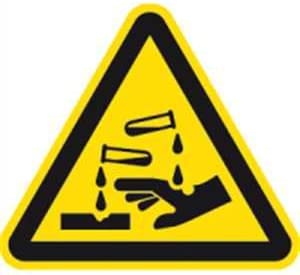 selbstkl Gr/ö/ße 31,50cm Warnung vor Biogef/ährdung Warnschild Folie
