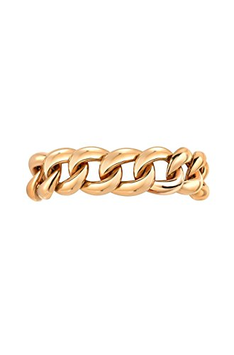 14k gold cuban link ring by Zoe Lev Jewelry