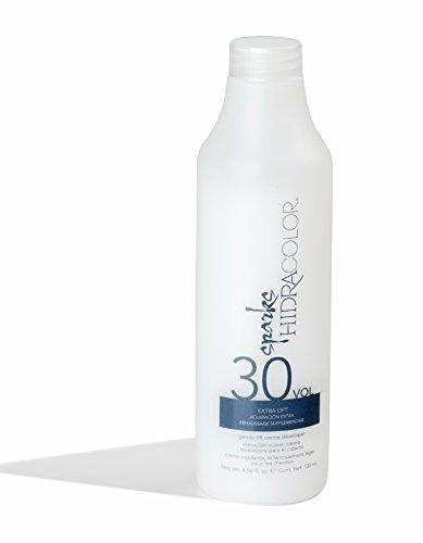 Sparks Hyrda Lightening HidraColor 30 Vol. Creme Developer 4.5 OZ/135 ML (Tint Blue Powder)