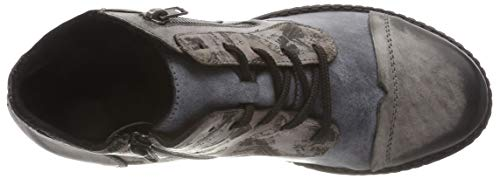 D4378 Remonte Gris negro Para cigar ozean Botas Militar 15 Mujer TngCf