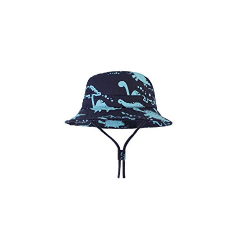 Tantisy ♣↭♣ Kid Cartoon Bucket Hat/Breathable Fisherman Cap/Wide Brim Sun Protection Hat/Adjustable/Girls and Boys Dark Blue