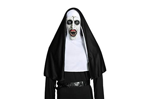 Moniku Nun Devil Valak Mask Deluxe Latex Scary Full Head Halloween Cosplay Accessory -