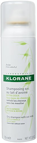 (Klorane Dry Shampoo with Oat Milk, Ultra-Gentle, All Hair Types, No White Residue, Paraben & Sulfate-Free, 3.2 oz.)