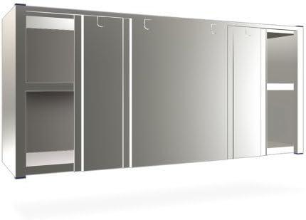 CubetasGastronorm - Armario de puertas correderas de 1000x300x610 mm. - 080806: Amazon.es: Hogar
