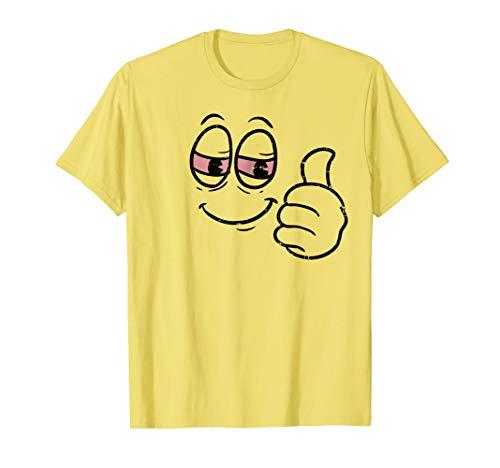 Halloween Emojis Shirt High Stoned Thumbs Up Weed Smile Eyes -