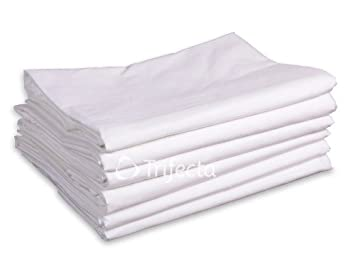 Flat Hospital Bed Sheetu2013white, Soft Cotton Blend (42u0026quot ...