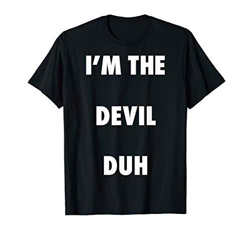 Homemade Devil Costume For Halloween (Easy Halloween Devil Costume Shirt for Men Women Kids)