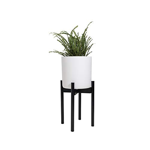 Sona Home Adjustable Mid Century Plant Stand | Available in 3 Sizes, 2 Colors | Stylish & Versatile Modern Plant Stand for Indoor & Outdoor Use | Fits Pots Up to 12 | Planter Stand Only