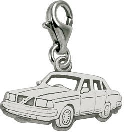 Rembrandt Charms Car Charm with Lobster Clasp, Sterling Silver ()