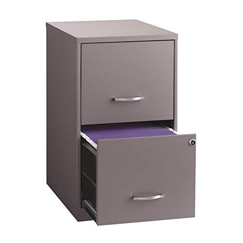 "Space Solutions Home File Cabinet, 18"", Platinum Gray"