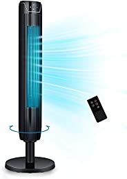 Tower Fan, 42 Inch Portable Oscillating Quiet Cooling Fan with Remote Controlled, 3 Modes and Speed Settings,