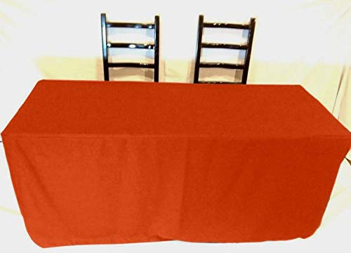 OKSLO 5' ft fitted polyester tablecloth slit back tablecover trade show booth 18 color by OKSLO