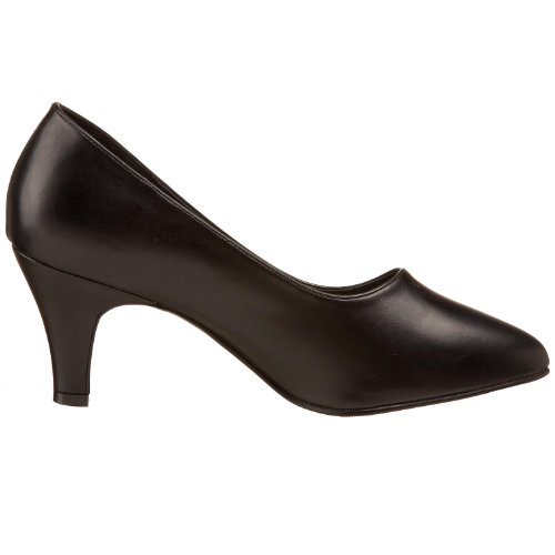 Pleaser Divine-420w Damen Plateau Schwarz (Schwarz (Blk Faux Leather))